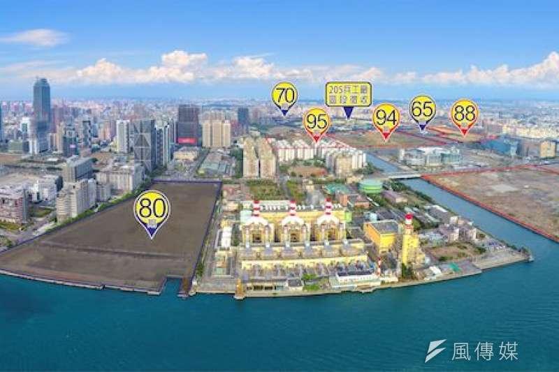 亞洲新灣區公辦開發區分佈圖。(圖/高雄市地政局提供)