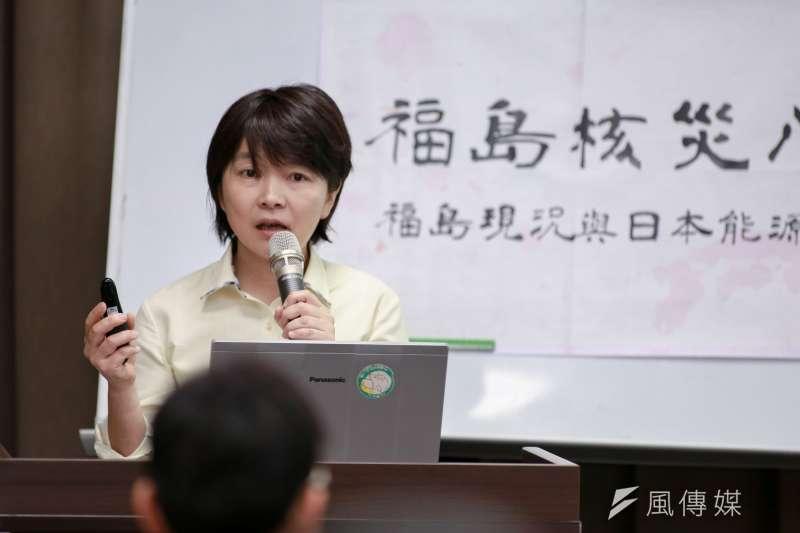日本地球之友理事滿田夏花說,「當我實際接觸核災災民,我看到的是核災剝奪了一個人享受人生的權利。」(簡必丞攝)