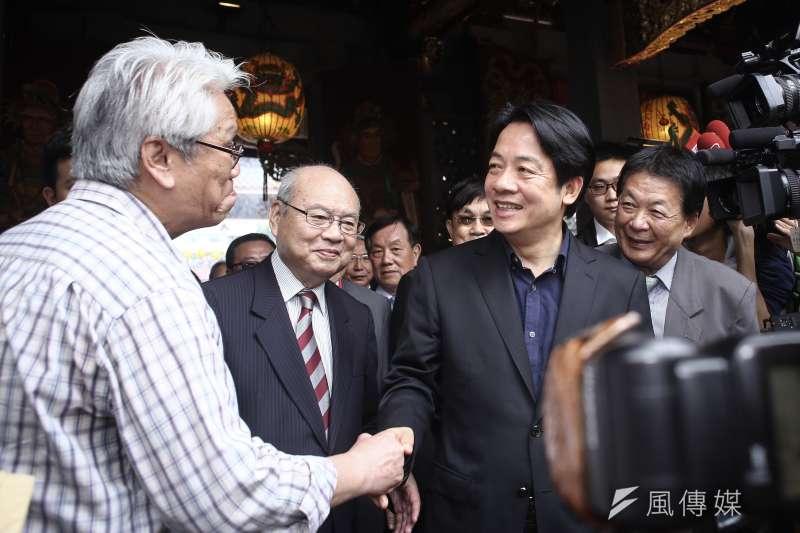 20190419-前行政院長賴清德赴大龍峒保安宮參拜。(陳品佑攝)