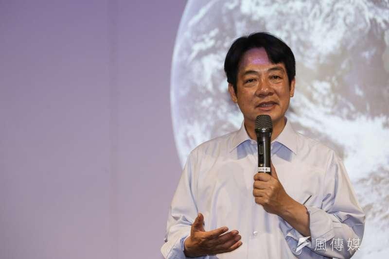 前行政院長賴清德回應高雄市長韓國瑜表示他無法參加國民黨初選問題。(資料照片,陳品佑攝)