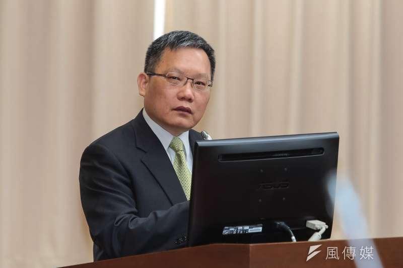 20190422-財政部長蘇建榮22日於財政委員會備詢。(顏麟宇攝)