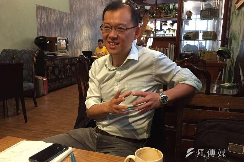 中興大學國際政治研究所教授陳牧民接受《風傳媒》專訪談印度大選。(鍾巧庭攝)