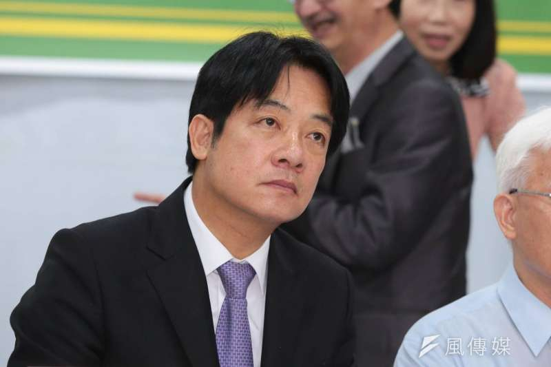 前行政院長賴清德25日出席本土社團「全民反併吞,護主權」記者會,針對香港「佔中九子」遭判刑,這對是香港人民要求基本民主條件「真普選」最大的斲傷。(顏麟宇攝)