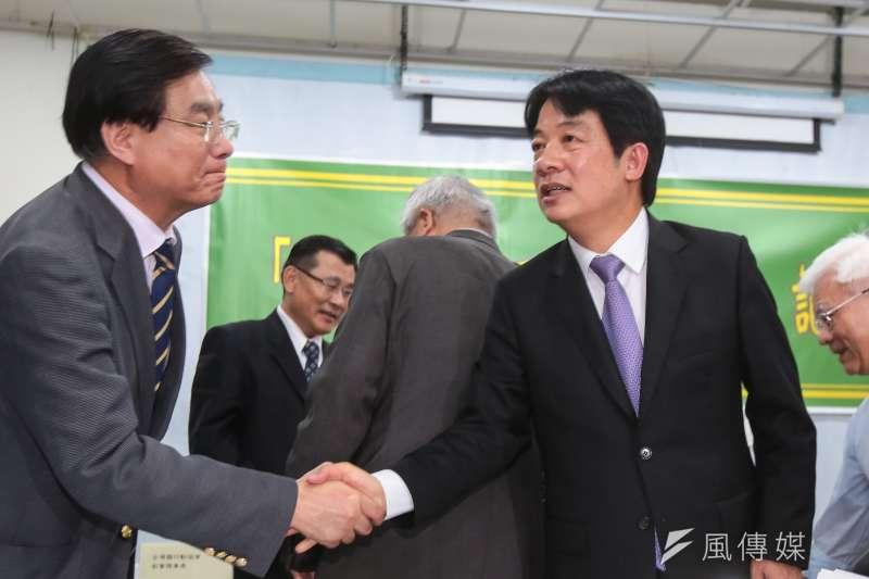 20190425-前行政院長賴清德25日出席「全民反併吞,護主權」記者會。(顏麟宇攝)