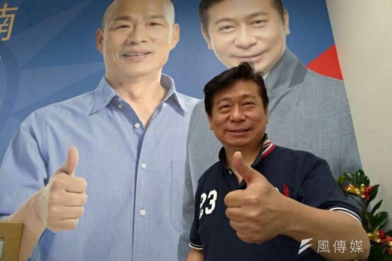 張顯耀憑藉專業的立委問政,希望能跟韓國瑜強強合作一起為高雄打拼。(圖/徐炳文攝)