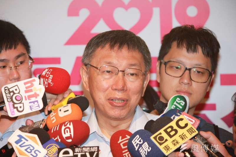 台北市長柯文哲今(26)日ˊ針對公宅政策,再度做出回應。(方炳超攝)