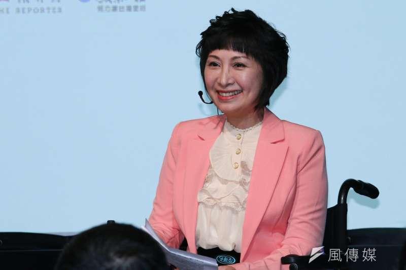 20190427-思沙龍》病人自主研究中心執行長楊玉欣27日出席「全球醫療體系的大變革」座談會。(蔡親傑攝)