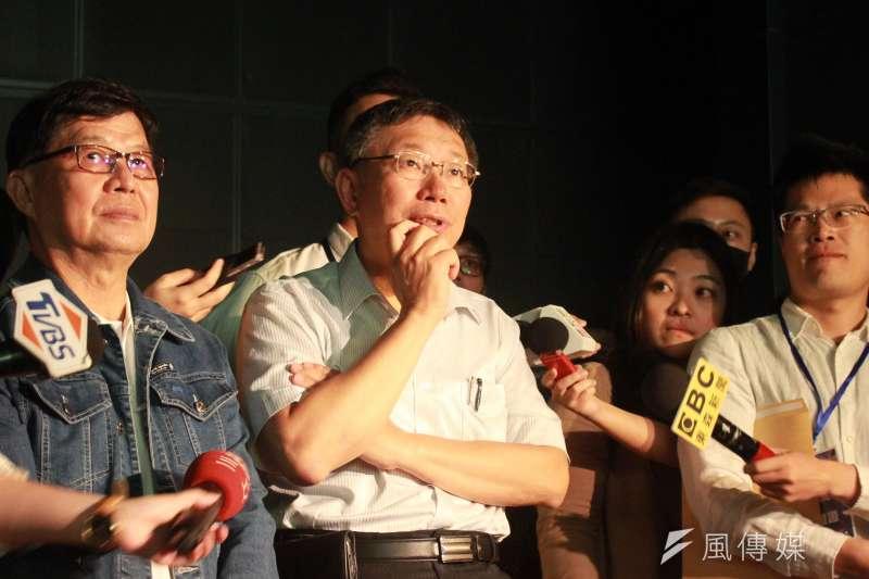 時力議員林穎孟透露,台北市長柯文哲(中)對中央執政效率一直有一些不滿。(資料照,方炳超攝)