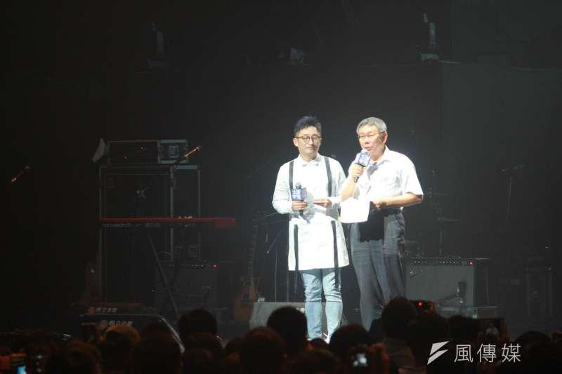 20190427-台北流行音樂中心表演廳今(27)日舉行功能測試,台北市長柯文哲出席視察。(方炳超攝)