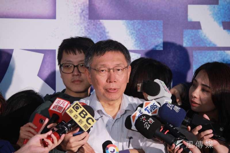 台北市長柯文哲本月下旬將訪日本,對於赴福島縣是否會吃核災區食品,柯文哲表示,「去那裡除非絕食,不然一定要吃東西啊!」(資料照,方炳超攝)