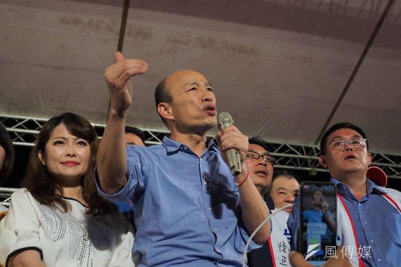 高雄市長韓國瑜公布競選經費流向,並表示若有對他家人的不實抹黑,他一定採取法律行動。(新新聞林瑞慶攝)