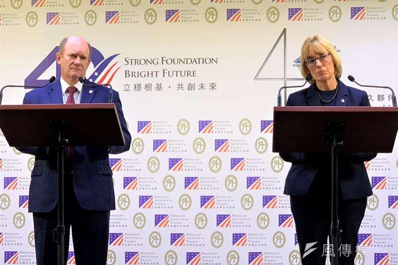 美國聯邦參議員昆斯與何珊旋風式訪問台灣(簡恒宇攝)