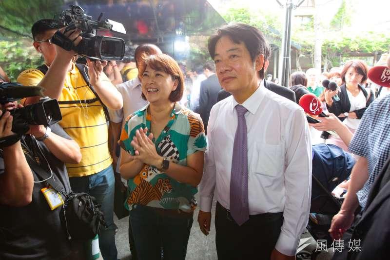 針對行政院長蘇貞昌談自己在2008年黨內初選廝殺的經驗,前行政院長賴清德(右)表示,自己以2008年黨內初選廝殺為戒,不會犯蘇貞昌當年犯的毛病。(資料照,顏麟宇攝)
