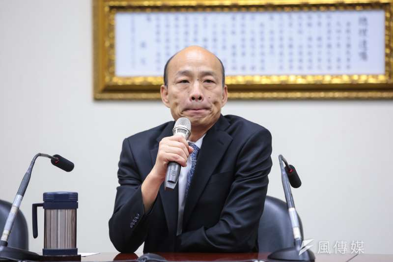 資深媒體人黃光芹質疑,國民黨總統參選人韓國瑜(見圖)為什麼在選高雄市長時會花到1.29億元,且當中有2000萬元宣傳費還流入自己人的公司。(資料照,顏麟宇攝)