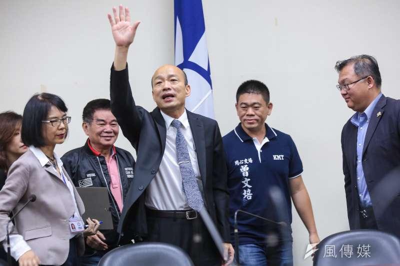 高雄市長韓國瑜成就國民黨九合一選舉大勝,也可能敗掉國民黨總統大選。(顏麟宇攝)