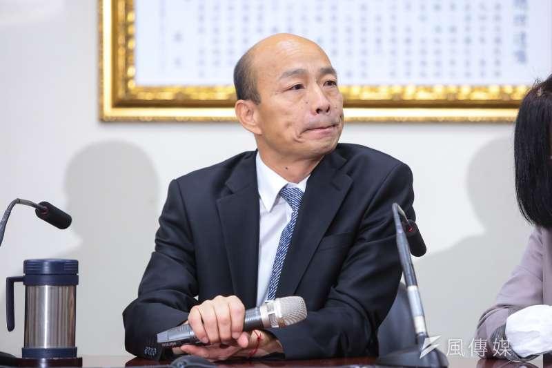 高雄市長韓國瑜30日至國民黨會見主席吳敦義。組發會主委李哲華表示,黨中央確定採「協調式初選」,擬以全民調方式,韓國瑜則表示「予以尊重」。(顏麟宇攝)