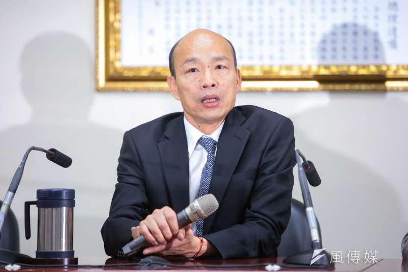 20190430-高雄市長韓國瑜30日至國民黨會見主席吳敦義。(顏麟宇攝)