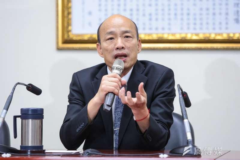 高雄市長韓國瑜是否該帶職參選總統,近來引起不少討論。(資料照,顏麟宇攝)