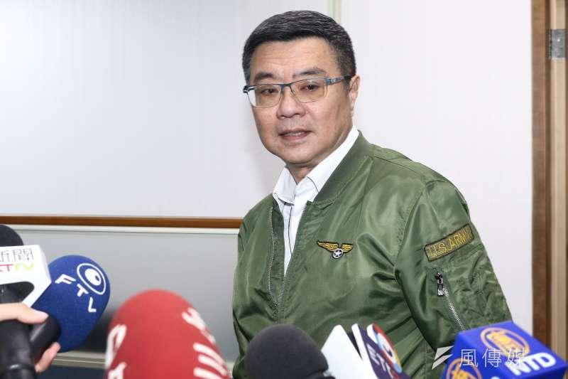20190501-民進黨主席卓榮泰1日出席民進黨中常會。(蔡親傑攝)
