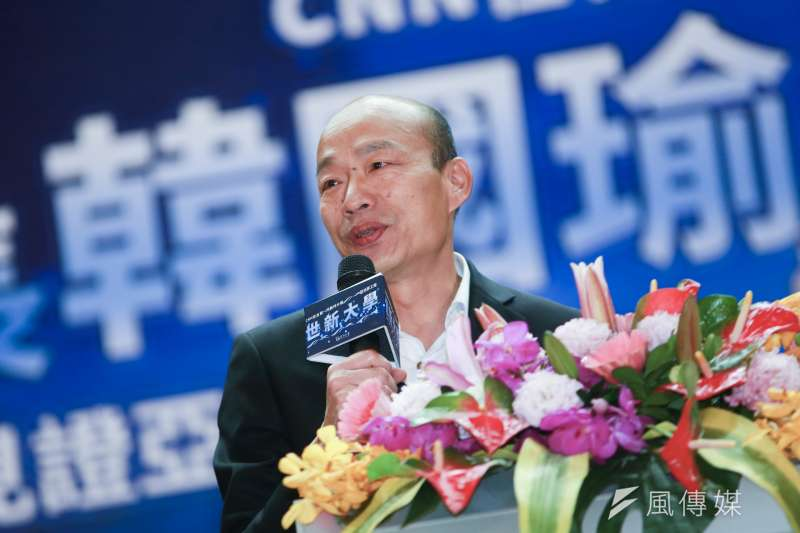 高雄市長韓國瑜坐擁高人氣,卻可能因在議會備詢時跳針「高雄發大財」,導致民調受影響。(資料照,簡必丞攝)