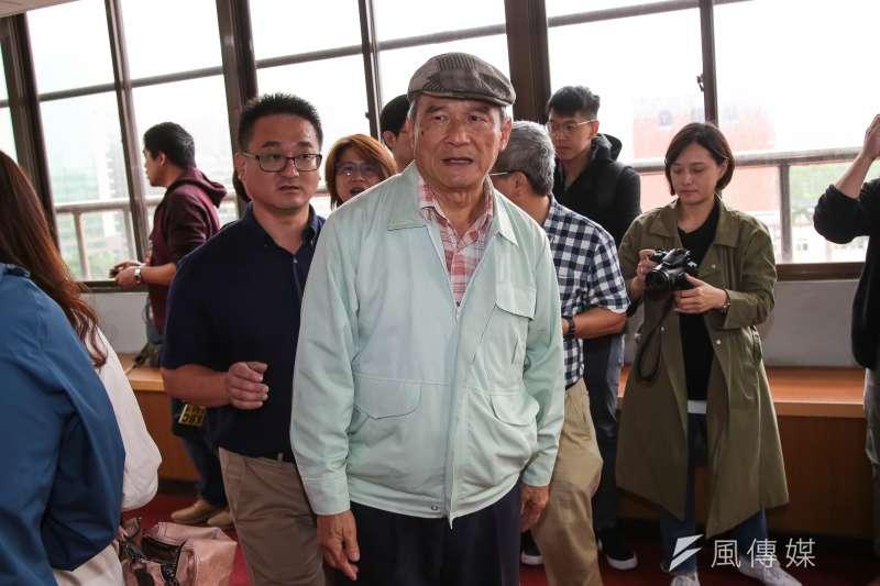 前國防部長蔡明憲(中)1日舉行台灣聯合國協進會WHO宣達團國際記者會。(顏麟宇攝)
