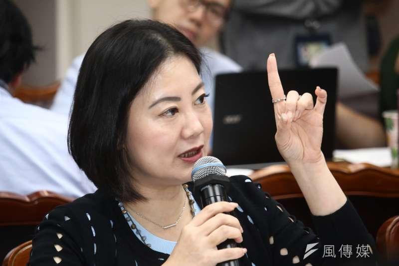 20190501-立委吳思瑤1日列席立法院教育委員會。(蔡親傑攝)