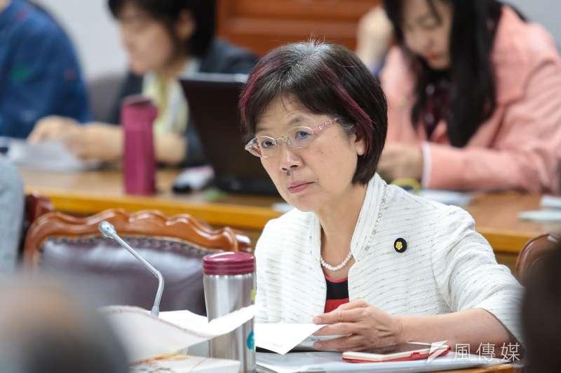 20190502-民進黨立委尤美女2日出席司法法制委員會,協商同婚法案。(顏麟宇攝)