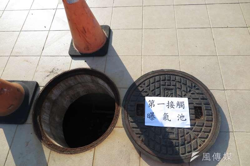 20190502-琉球鄉老人會館地下的聚落式污水處理設施。(廖羿雯攝)