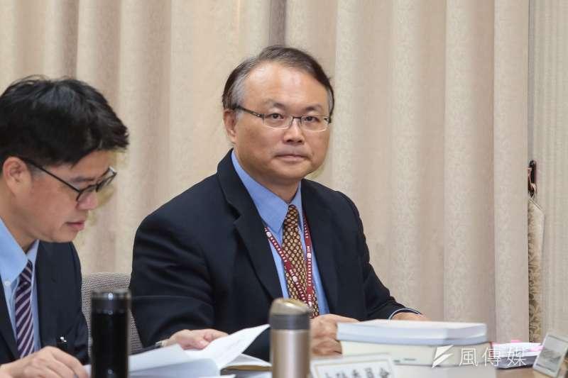 20190502-NCC主秘蕭祈宏2日出席立院外交國防委員會。(顏麟宇攝)