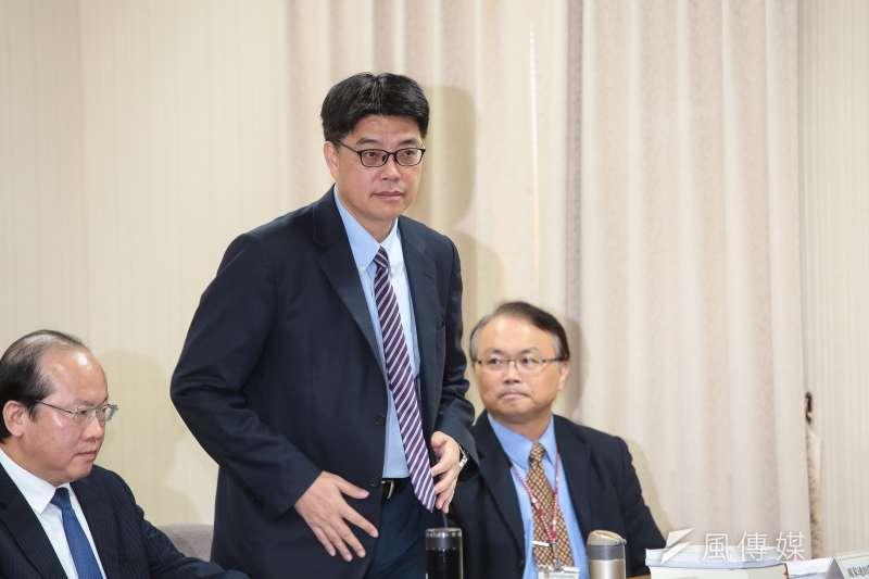 20190502-陸委會副主委邱垂正2日出席立院外交國防委員會。(顏麟宇攝)