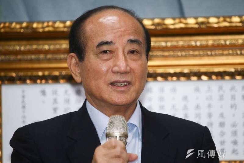 20190502-前立法院長王金平2日至國民黨黨部與主席吳敦義見面,並於會後發表談話。(蔡親傑攝)