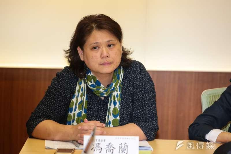 20190502-人本基金會執行長馮喬蘭2日出席「女兒遭霸凌輕生,我要的只是一句道歉」記者會。(顏麟宇攝)