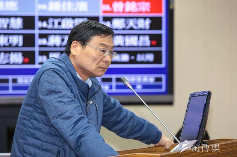 20190502-國民黨立委曾銘宗2日於外交國防委員會質詢。(顏麟宇攝)