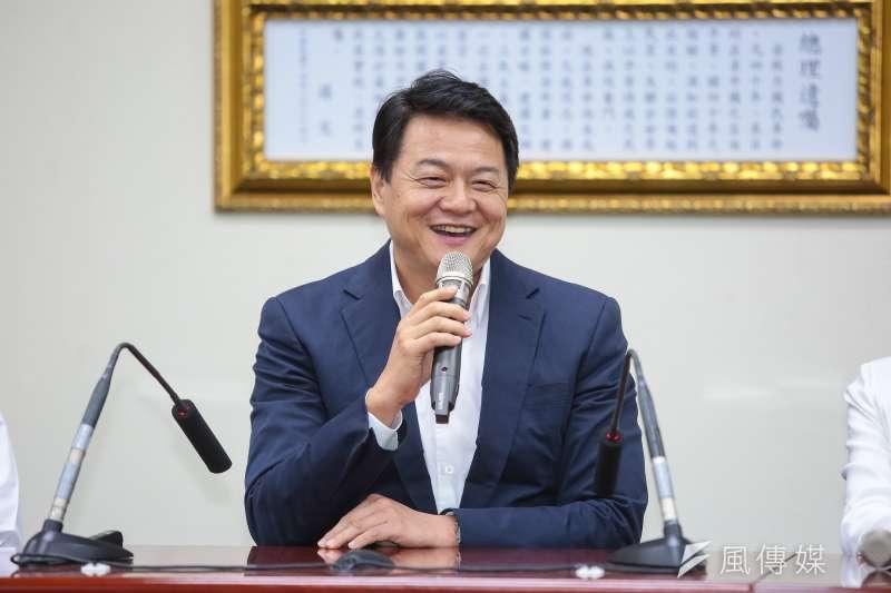 20190503-前台北縣長周錫瑋3日至黨部會見主席吳敦義。(顏麟宇攝)