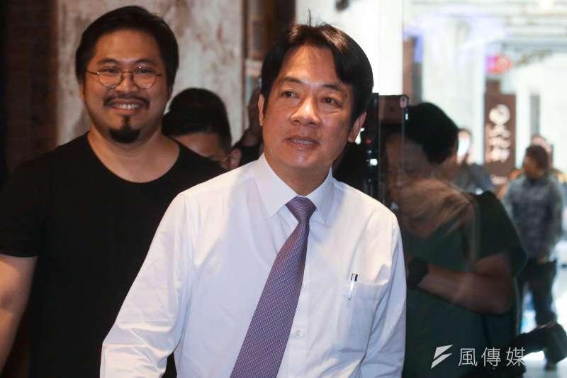 前行政院長賴清德批評鴻海董事長郭台銘稱「台灣是中國的一部分」。(資料照片,蔡親傑攝)