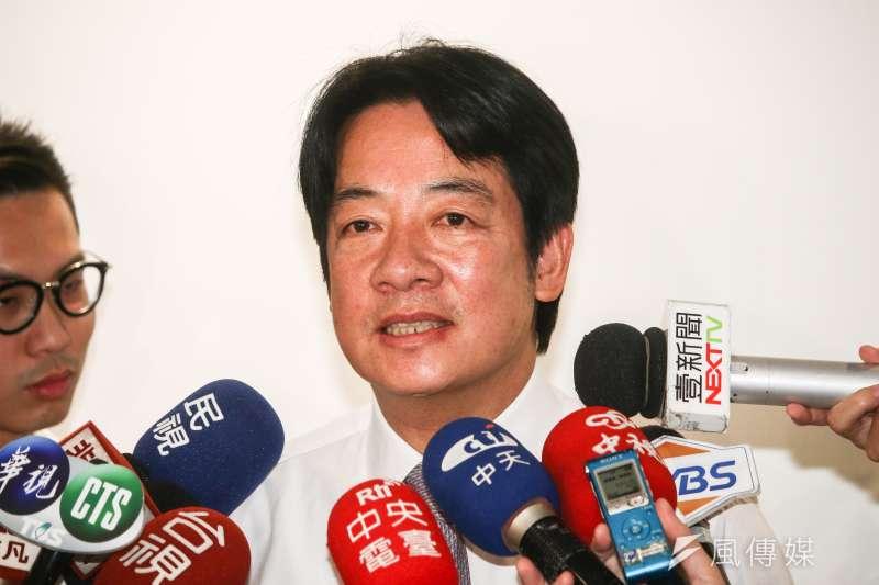 賴清德說,台灣中央政府體制有嚴重結構問題,他擔任行政院長時,也非常有感。(資料照,蔡親傑攝)