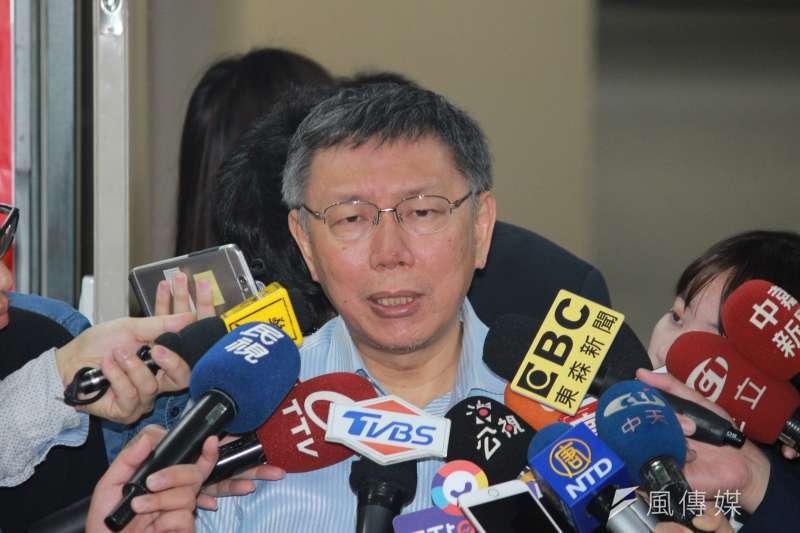 台北市長柯文哲今(13)日受訪時對總統蔡英文的戰略持存疑態度。(資料照,方炳超攝)