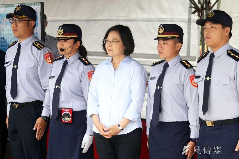 2019年5月4日,總統蔡英文出席金華暨海安十號演習(蘇仲泓攝)