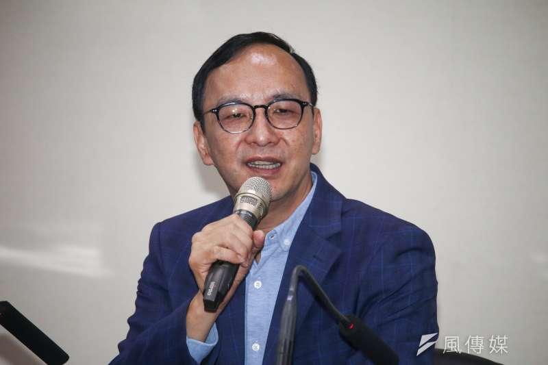 前新北市長朱立倫(見圖)在臉書發文,直指時代力量跟太陽花運動車裂台灣最需要的自經區,讓台灣這幾年的經濟成長率嚐到苦果。(資料照,蔡親傑攝)