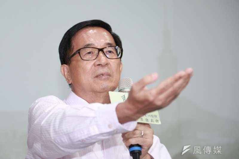 前總統陳水扁再於臉書批評總統蔡英文「像烏賊魚沒血沒目屎!」當黨主席的前4年只到監所看過他一次。(資料照片,簡必丞攝)
