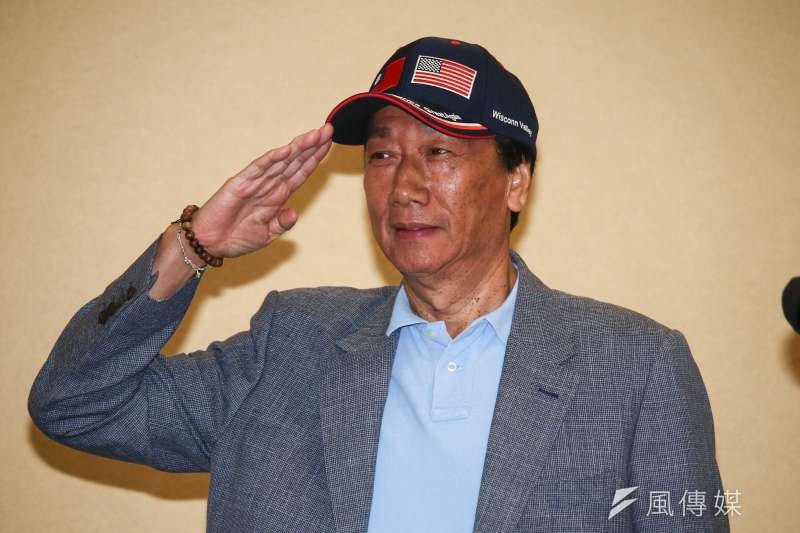 鴻海集團董事長郭台銘日前提出兩個中國說,國台辦今天回應了。(資料照片,蔡親傑攝)