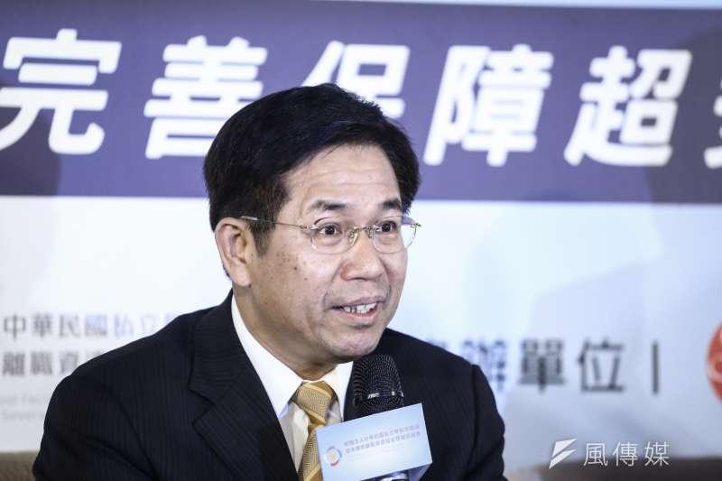 20190507-「私校退撫儲金10年有成」記者會,教育部長潘文忠。(陳品佑攝)