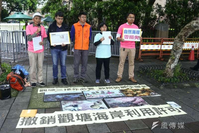 之前環保人士抗議觀塘三接,已拖延完工時程。(蔡親傑攝)