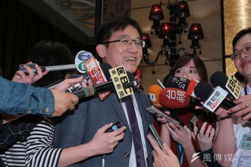高雄市議員陳致中表示,前總統陳水扁出席凱達格蘭基金會募款餐會主要是表達對老朋友的感謝。(顏麟宇攝)