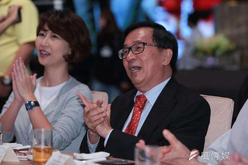 20190509-前總統陳水扁9日出席凱達格蘭基金會14週年感恩募款餐會。(顏麟宇攝)