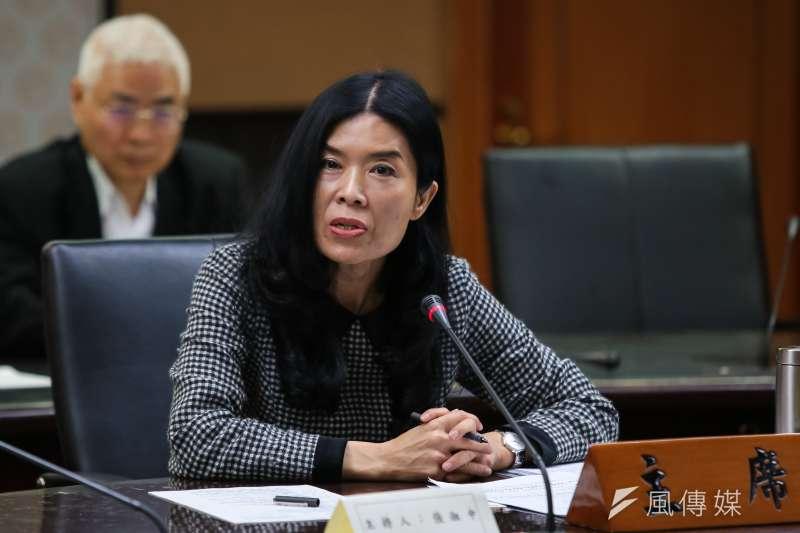 20190509-中選會委員張淑中9日出席主持「台灣應向國際宣布和平中立」全國性公投聽證會。(顏麟宇攝)