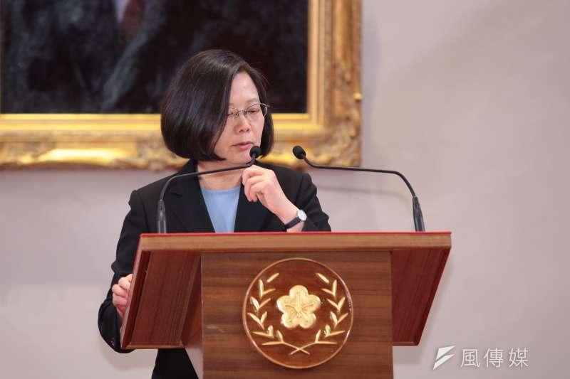 20190510-總統蔡英文10日召開「國安高層會議會後記者會」。(顏麟宇攝)