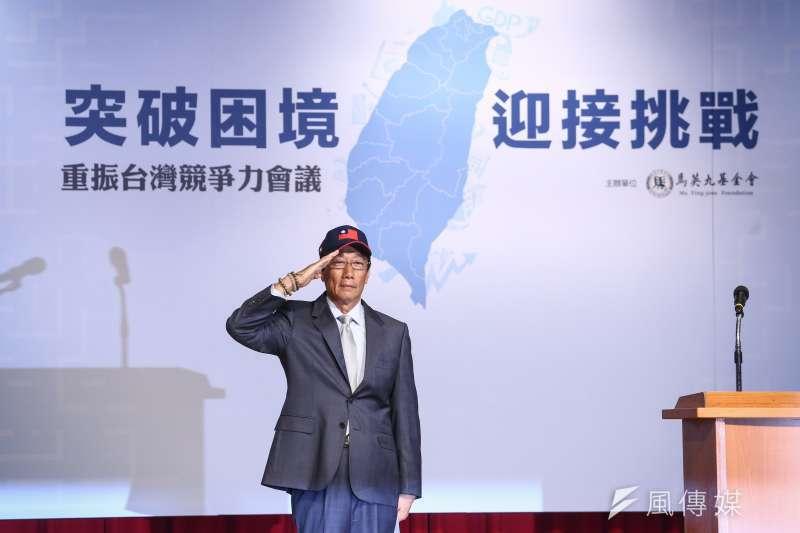 郭台銘宣布參選總統後,所持有台灣寬頻通訊受到關注。(陳品佑攝)