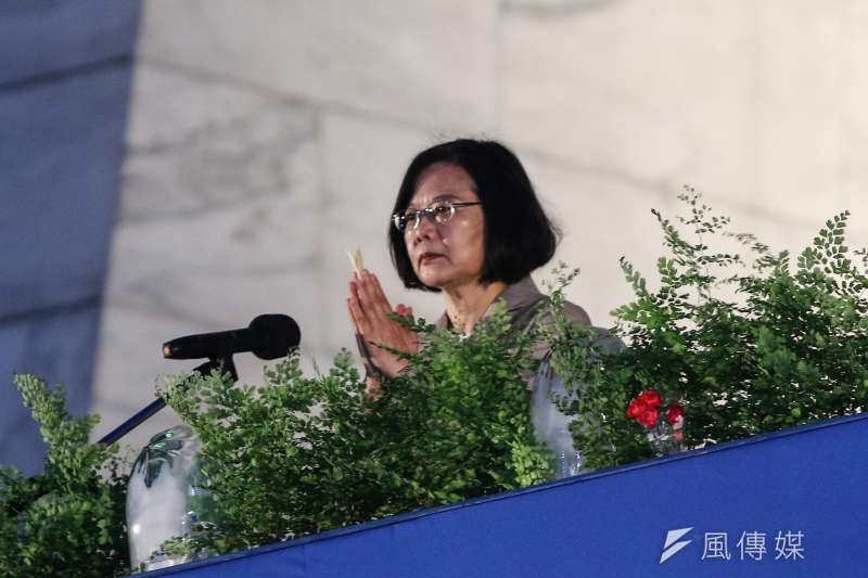 20190512-總統蔡英文12日出席「2019慈濟浴佛節大會」。(蔡親傑攝)