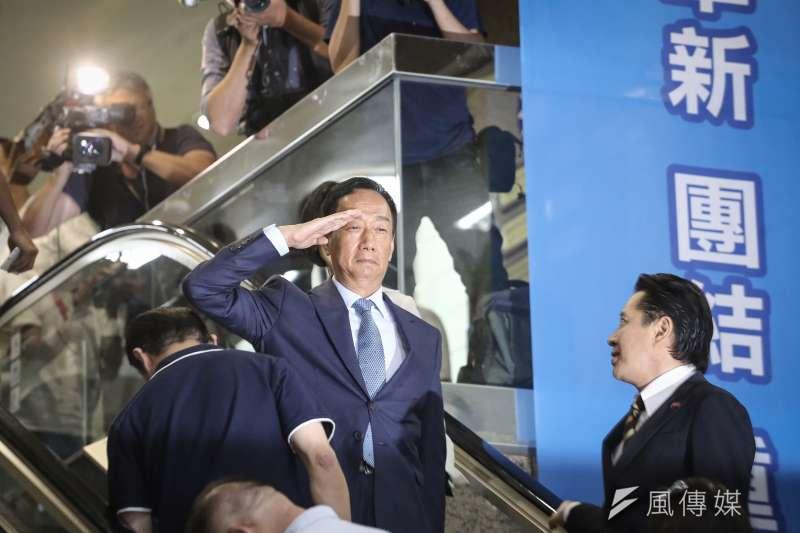鴻海董事長郭台銘表示,香港一國兩制是失敗的。(資料照片,陳品佑攝)